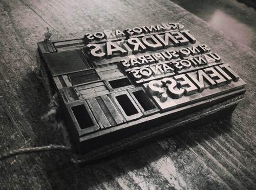 Playing with metal and wood type