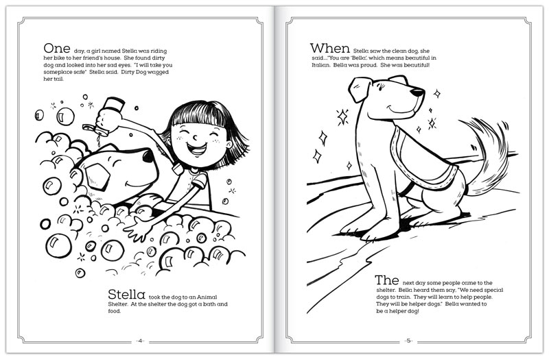 I Illustrated And Designed A Coloring Book That The Students Of Pickney High School In Michigan Wrote About Stiggys Dogs An Organization Train