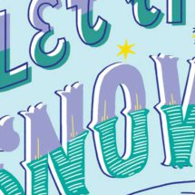 Let it snow Christmas Greeting Card