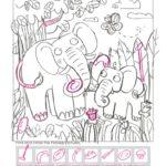 Animal Hidden Pictures book – Sketches